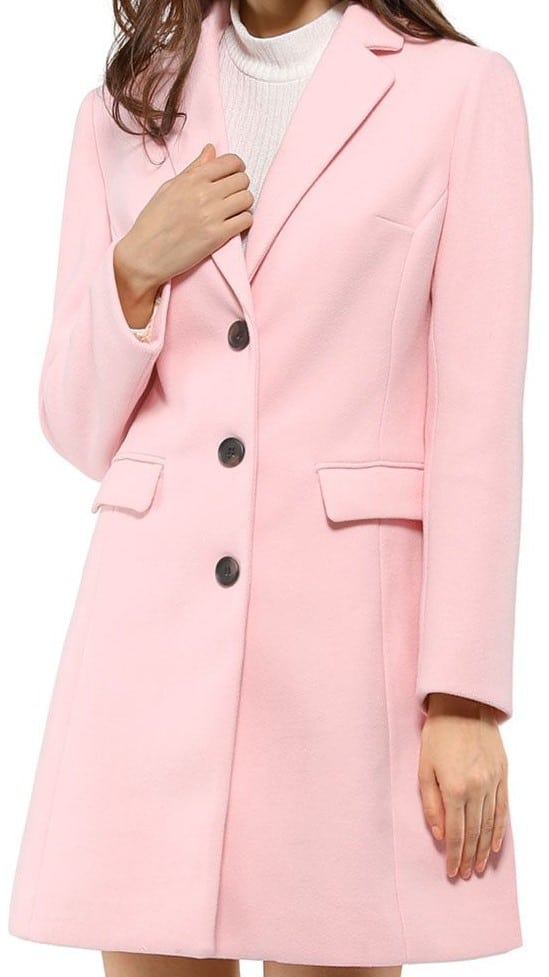 Allegra K Women's Single Breasted Winter Coat