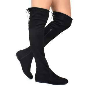 Premier Standard Comfy Vegan Suede Over Knee High Boots