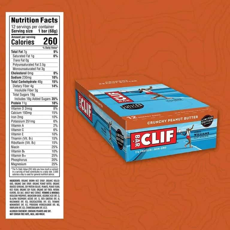 Clif bars: ingredient list