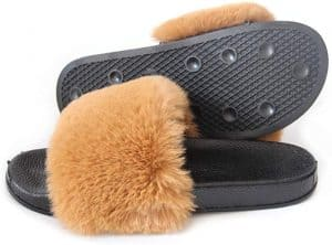 LSWJS Women's Faux Fur Slippers