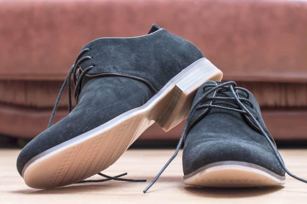 Vegan suede shoes