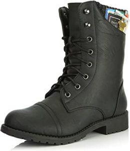 DailyShoes Women's Military Combat Boots