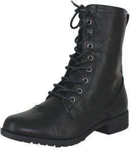Forever Link Women's Vegan Combat Boots