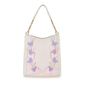Sylvaine Cream Hobo bag
