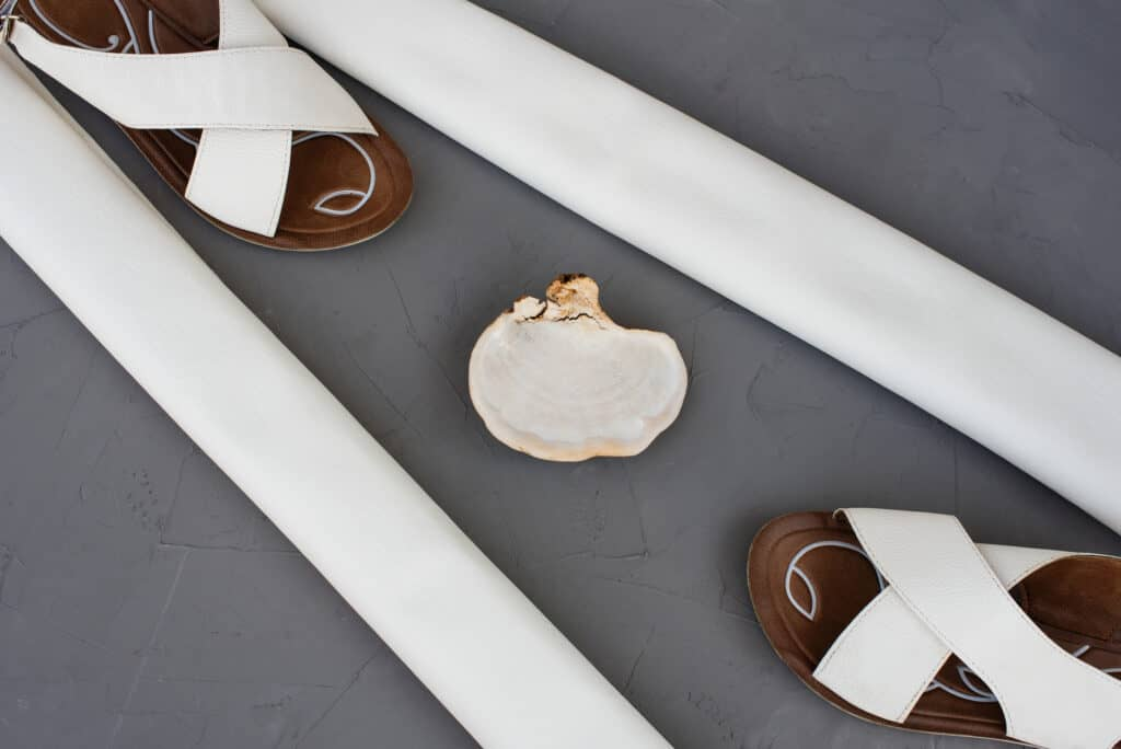 mushroom leather shoes