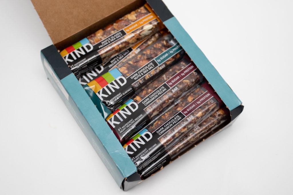 Open box of KIND Bars